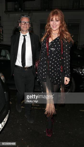 George Waud and Charlotte Tilbury seen attending a fashion party at MNKY HSE in Mayfair during LFW February 2018 on February 19 2018 in London England