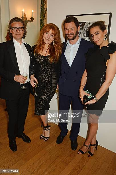 George Waud Charlotte Tilbury Dominic West and guest attend The 8th Annual Filmmakers Dinner hosted by Charles Finch and JaegerLeCoultre at Hotel du...