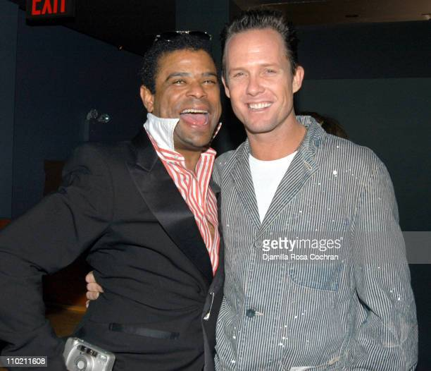 George Wayne and Dean Winters during Crobar Presents George Wayne's Downtown 100 List Celebration at Crobar in New York City New York United States