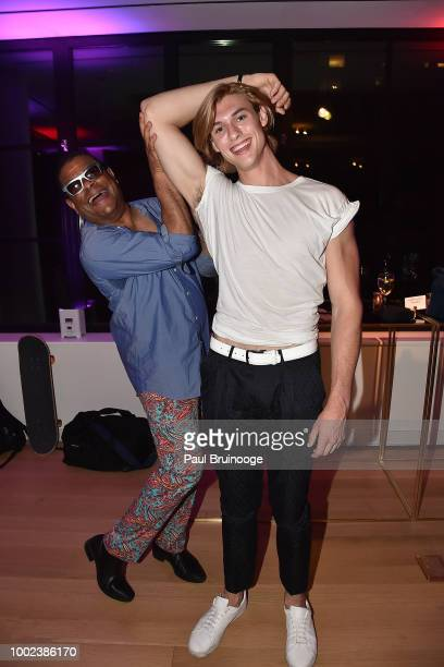George Wayne and Gray Eberley attend Brian Feit's 40th Birthday Party at 550 West 29th Street on July 19 2018 in New York City