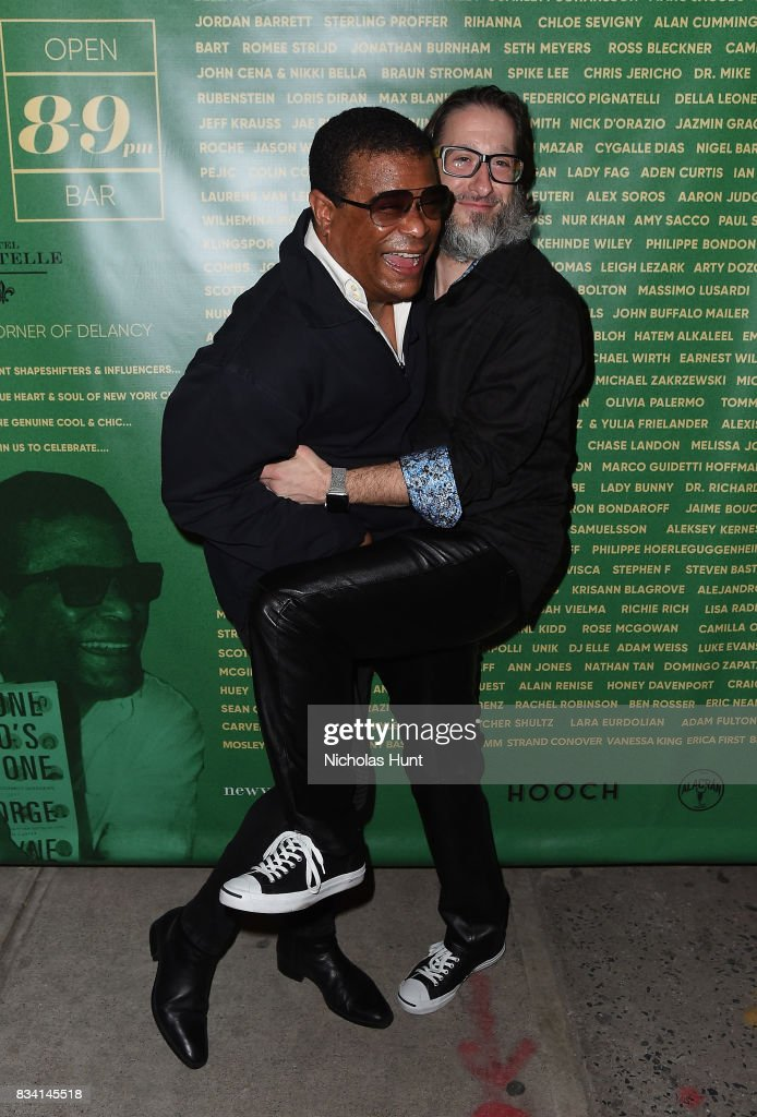 George Wayne and Jae Benjamin attend the George Wayne's Annual Downtown 100 Party at Hotel Chantelle on August 17, 2017 in New York City.