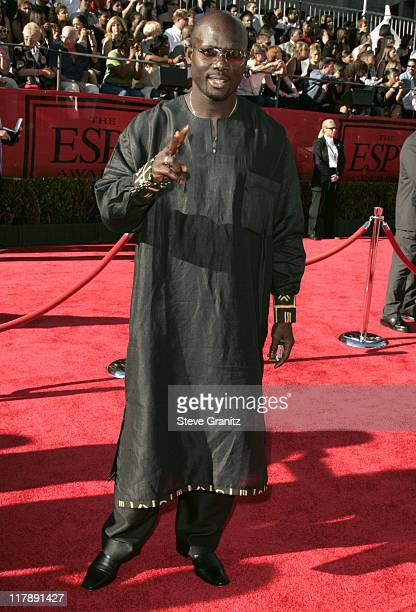 George Weah during 2004 ESPY Awards Arrivals at Kodak Theatre in Hollywood California United States
