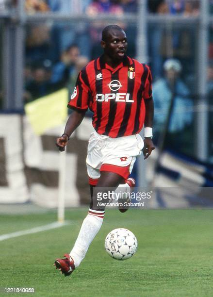 George Weah of AC Milan in action during the Serie A 1996-97. Italy