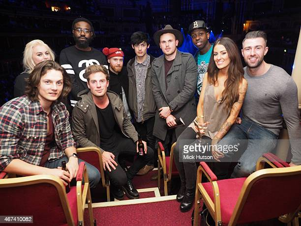 George Webster Felicity Hayward Mikill Pane Adam Pitts Toby Faulkner Dane Dare Jamal Edwards and Elmo Hood during Teenage Cancer Trust 15th...