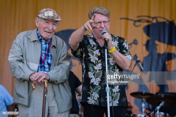 George Wein and Quint Davis announce the 50th annaversary of the New Orleans Jazz Heritage Festival 2018 at Fair Grounds Race Course on April 29 2018...