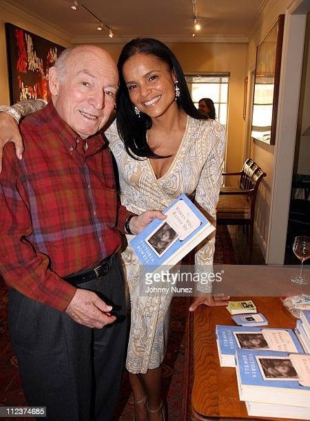 George Wein and Victoria Rowell during Victoria Rowell Private Launch of Her Book The Women Who Raised Me Hosted by George Wein at Home of George...