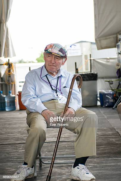 George Wein founder of The New Orleans Jazz and Heritage Festival watching Pete Seeger at 90 years old perform at the 40th Anniversary of The New...