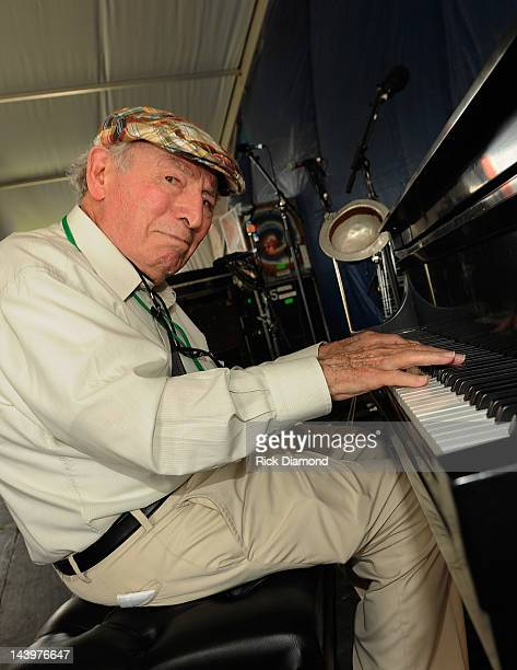 George Wein Jazz Artist/founder New Orleans Jazz Heritage Festival backstage during the 2012 New Orleans Jazz Heritage Festival Day 7 at the Fair...