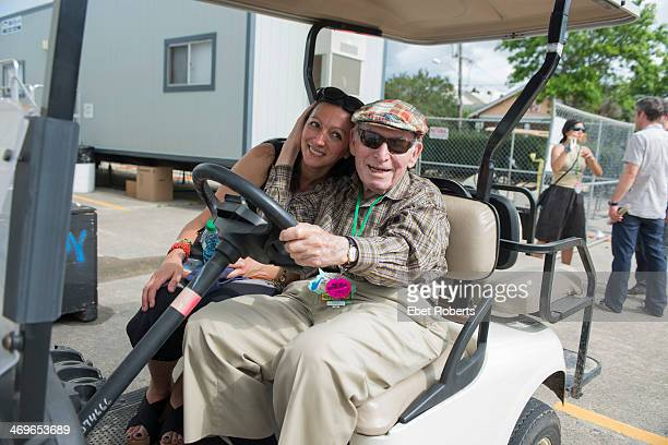 George Wein poses at the New Orleans Jazz and Heritage Festival in New Orleans Louisiana on May 3 2012