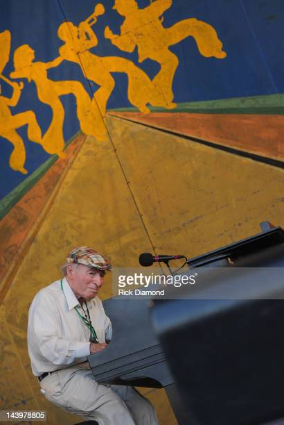 George Wein sits in with The Preservation Hall Jazz Band during there 50th Annversary performance at the 2012 New Orleans Jazz Heritage Festival Day...