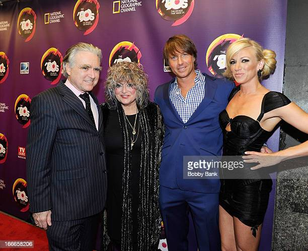 George Whipple Nina Blackwood Robert Watman and Debbie Gibson attends Nat Geo's The 80's The Decade That Made Us New York Premiere at Culture Club on...