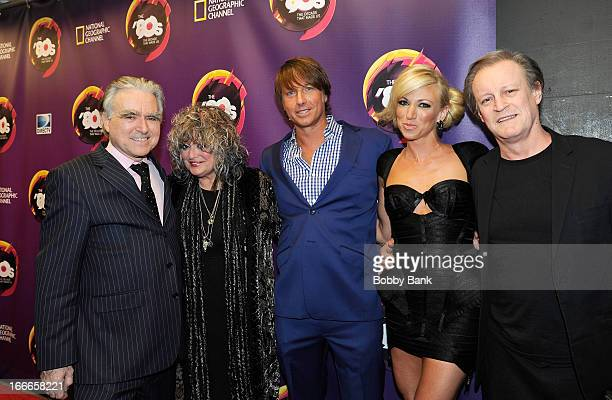 George Whipple Nina Blackwood Robert Watman Debbie Gibson and Patrick McMullan attends Nat Geo's The 80's The Decade That Made Us New York Premiere...