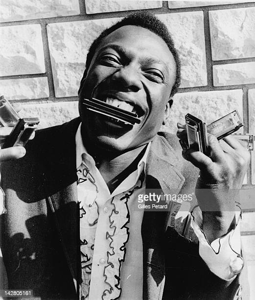 George 'Wild Child' Butler portrait with harmonicas USA 1968