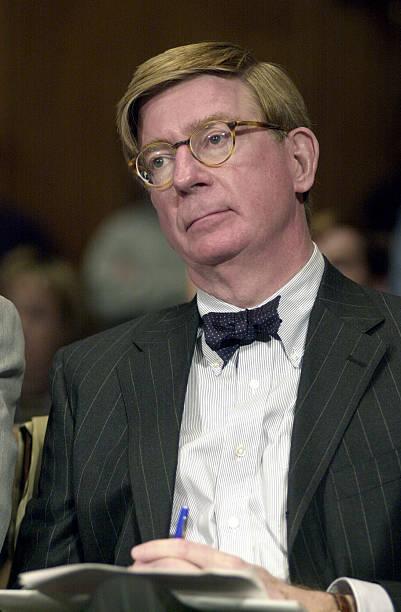 george will at a senate hearing discussing the revenue gap b