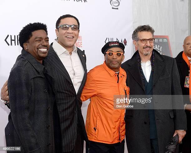 "George Willborn, Harry Lennix, director Spike Lee and John Turturro attend the ""CHI-RAQ"" New York Premiere at Ziegfeld Theater on December 1, 2015 in..."