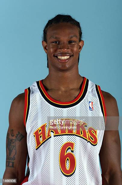George Williams of the Atlanta Hawks poses for a portrait during the Hawk's Media Day on October 1 2002 at Philips Arena in Atlanta Georgia NOTE TO...