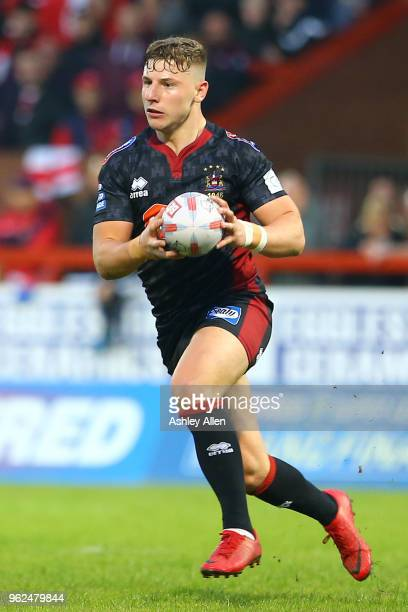 George Williams of Wigan Warriors during the Betfred Super League at KCOM Craven Park on May 25, 2018 in Hull, England.