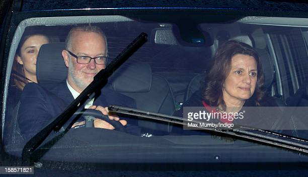 George Windsor Earl of St Andrews and Sylvana Windsor Countess of St Andrews attend a Christmas lunch for members of the Royal Family hosted by Queen...