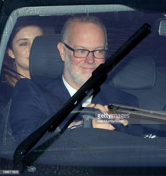 George Windsor Earl of St Andrews attends a Christmas lunch for members of the Royal Family hosted by Queen Elizabeth II at Buckingham Palace on...