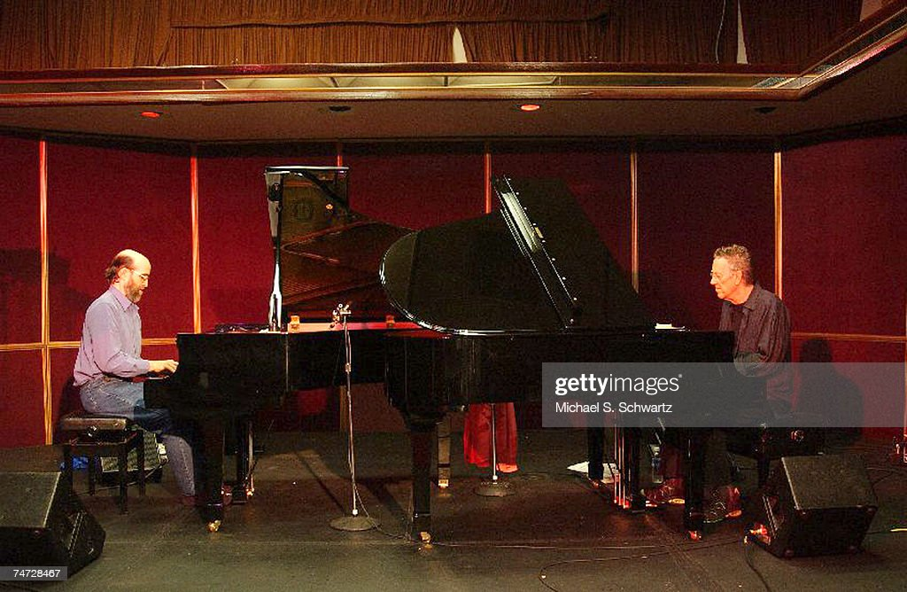 George Winston (L) and Ray Manzarek at the SIR Rehearsal Studios in Hollywood, California