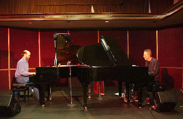 george winston and ray manzarek rehearse for new york performance of winston 39 s photos and images. Black Bedroom Furniture Sets. Home Design Ideas
