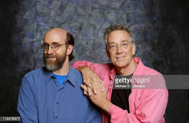 """George Winston and Ray Manzarek during George Winston and Ray Manzarek Rehearse for New York Performance of Winston's """"Night Divides the Day - The..."""