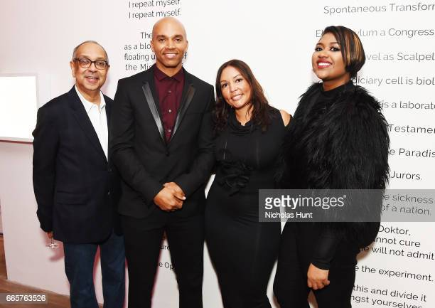 George Wolfe Kadir Nelson Lucinda Martinez and Jazmine Sullivan attends HBO's The HeLa Project Exhibit For The Immortal Life of Henrietta Lacks on...