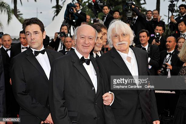 George Wolinski and Francois Cavanna at the premiere of 'Vicky Cristina Barcelona' during the 61st Cannes Film Festival