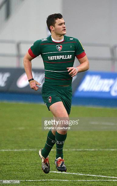 George Worth of Leicester during the Premiership Rugby/RFU U18 Academy Finals Day match between Leicester and Bath at The Allianz Park on February 16...