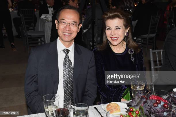 George Yeo and Princess Firyal attend the Berggruen Prize Gala at the New York Public Library on December 14 2017 in New York City