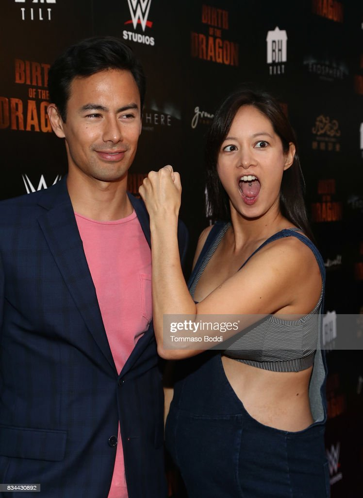 George Young and Janet Hsieh attend the Premiere Of WWE Studios' 'Birth Of The Dragon' at ArcLight Hollywood on August 17, 2017 in Hollywood, California.