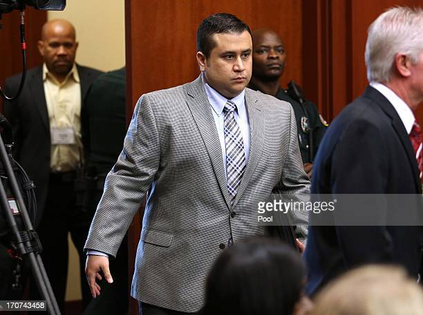 George Zimmerman arrives in Seminole circuit court on the sixth day of his murder trial on June 17 2013 in Sanford Florida Zimmerman has been charged...
