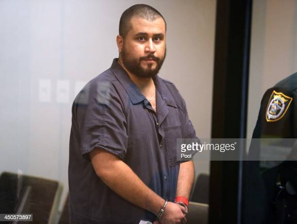 George Zimmerman the acquitted shooter in the death of Trayvon Martin arrives in Courtroom J2 to face a Seminole circuit judge during a...