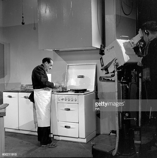 Georges Adet in front of his stoves presents Monsieur X's Recipes