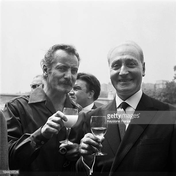 Georges Brassens And Jean Tranchant In Paris In 1964