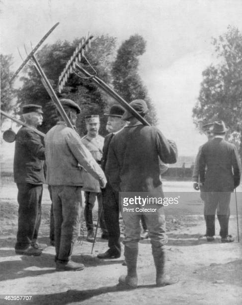 Georges Clemenceau talking with farmers near the front Chemin des Dames France 1918 Clemenceau was appointed Prime Minister of France in November...