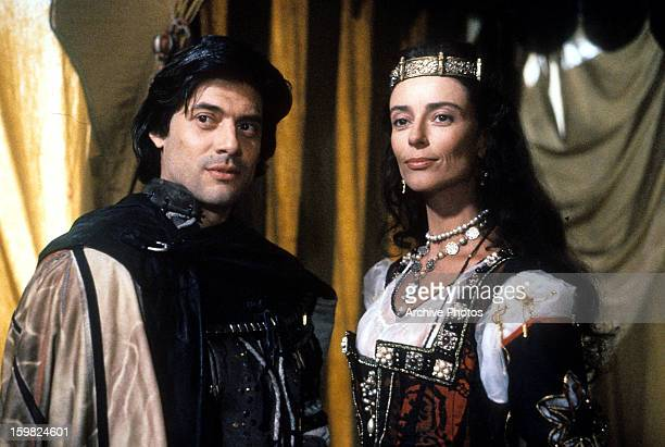 Georges Corraface and Rachel Ward in a scene from the film 'Christopher ColumbusThe Discovery' 1992