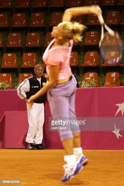 Georges GOVEN et Tatiana GOLOVIN entrianement Fed Cup France / Japon Limoges