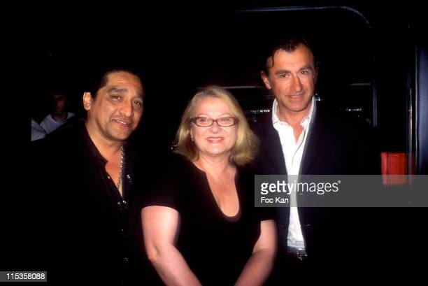 Georges, Josiane Balasko, Christophe Malavoy during Mont Blanc Individuel Perfume - Launch Party at Cabaret Club in Paris, France.