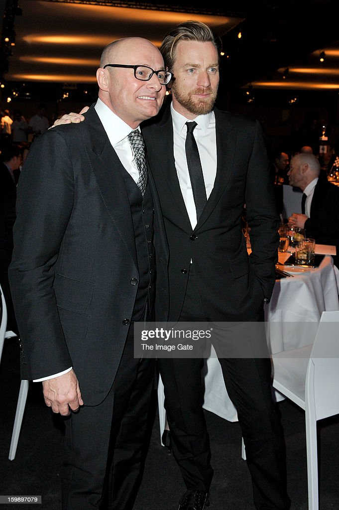 Georges Kern and Ewan McGregor attend the IWC Schaffhausen Race Night event during the Salon International de la Haute Horlogerie (SIHH) 2013 at Palexpo on January 22, 2013 in Geneva, Switzerland.