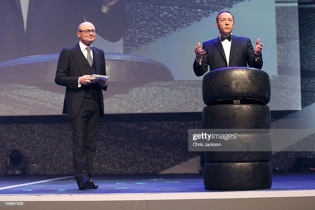 Georges Kern and Kevin Spacey attend the IWC Schaffhausen Race Night event during the Salon International de la Haute Horlogerie (SIHH) 2013 at Palexpo on January 22, 2013 in Geneva, Switzerland.