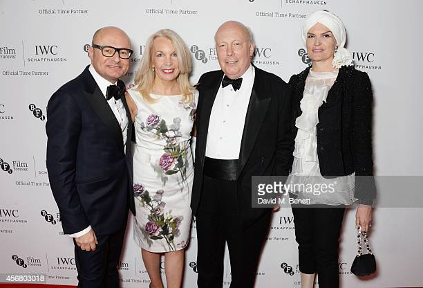 Georges Kern CEO IWC Schaffhausen Amanda Nevill CEO of the BFI Julian Fellowes and Emma Joy Kitchener attend the BFI London Film Festival IWC Gala...