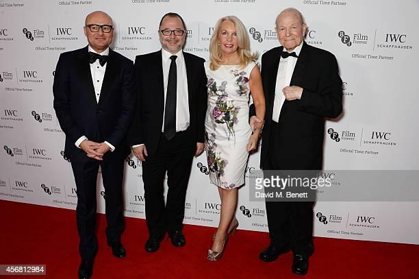 Georges Kern CEO IWC Schaffhausen Marc Samuelson Amanda Nevill CEO of the BFI and Sir Sydney Samuelson attend the BFI London Film Festival IWC Gala...