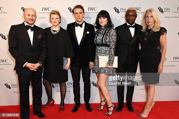 IWC CEO Georges Kern Hope DicksonLeach Paul Anton Smith Alice Lowe Joseph Adesunloye and BFI CEO Amanda Nevill attend the IWC Schaffhausen Dinner in...