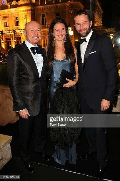 Georges Kern, Jessica Adams and James Purefoy attend Roger Dubuis - Soiree Monegasque at Hotel de Paris on October 20, 2011 in Monaco, Monaco.