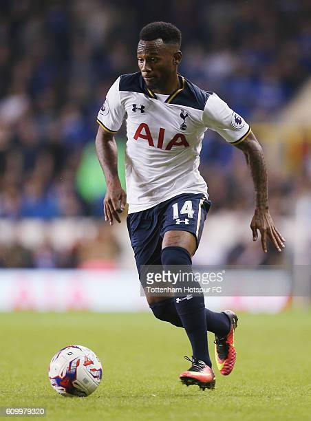 Georges Kevin Nkoudou of Tottenham during the EFL Cup Third Round match between Tottenham Hotspur and Gillingham at White Hart Lane on September 21...