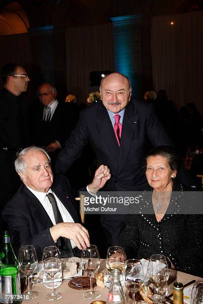 Georges Kiejman with Simone Weil and her husband attend the Scopus Award dinner given by the Jewish University of Jerusalem rewarding for...