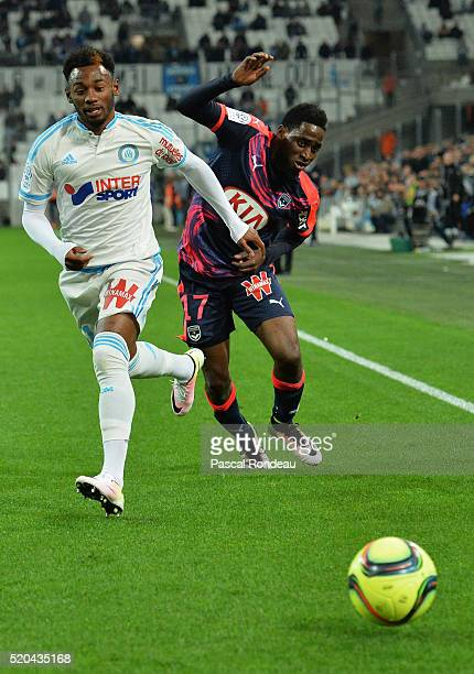 Georges Kévin Nkoudou Mbida from Marseille fighting with André Biyogo Poko from Bordeaux during the French League 1 match between Olympique de...