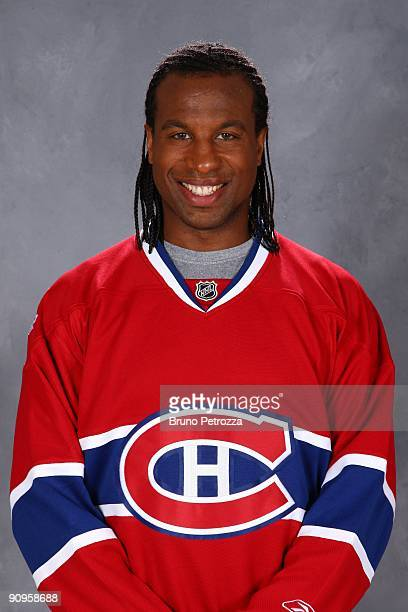 Georges Laraque of Montreal Canadians poses for his official headshot for 20092010 NHL season