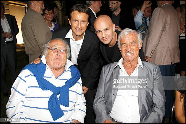 Georges Lautner Vincent Perrot Rachid Ferrache Jean Paul Belmondo at Opening Party For The Paul Belmondo Museum In BoulogneBillancourt